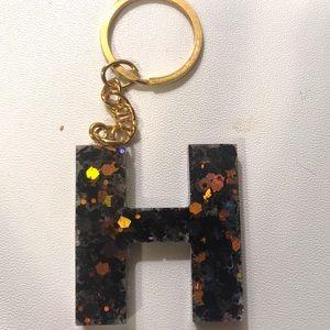 H keychain